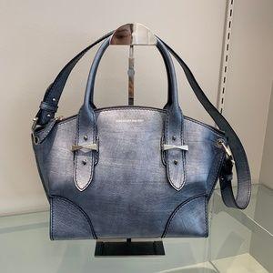 Alexander McQueen Small Metallic Blue Legend Bag